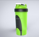 Blender plastic water bottle protein shaker