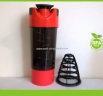 500ml cyclone cup with strainer protein shaker