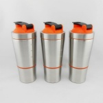 700ml + 200ml Stainless Steel Water Bottle Protein Shaker Bottle