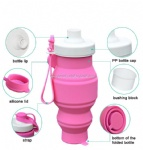 Portable Water Bottle Food Grade Collapsible Silicone Squeezed Water Bottle