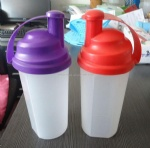 PP Plastic blender bottle with metal mixed ball