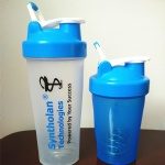 Plastic Water Bottle with Blender for Protein Powder with Mixer Ball