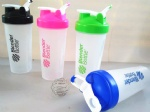 2016 OEM logo Smart bpa-free plastic protein 600ml shaker bottle