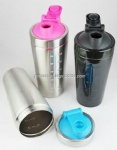 Fitness stainless steel protein shaker bottle